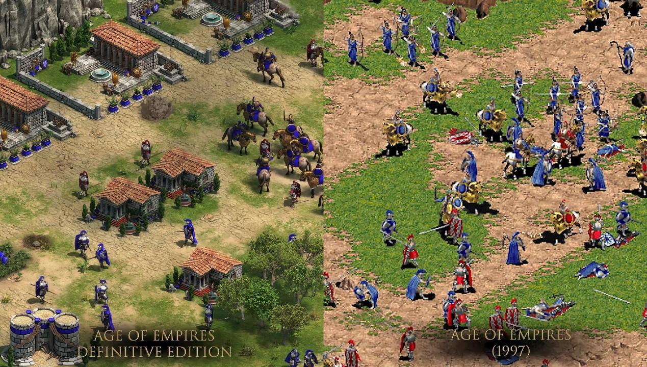 Age of Empires Vergleich alt + neu