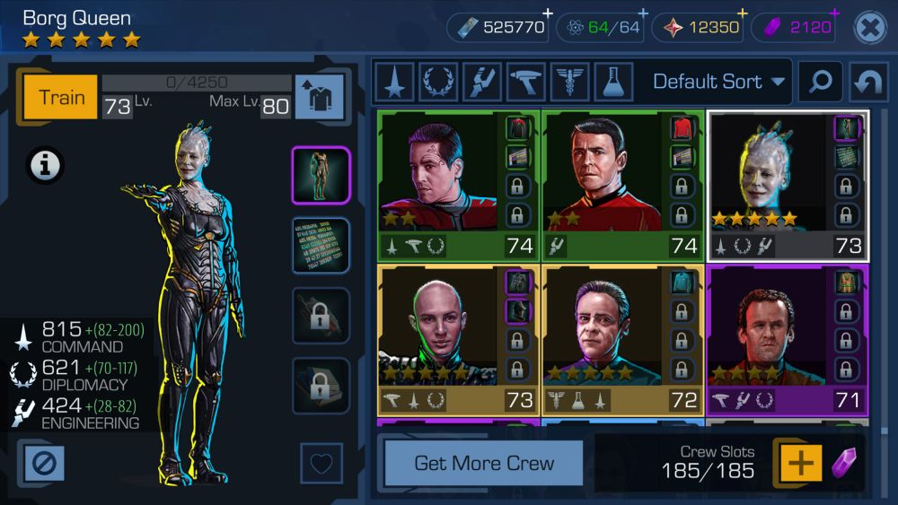 Star Trek Timelines Crew