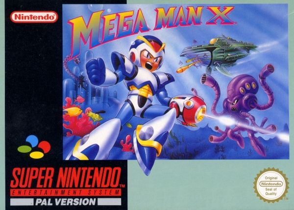 Mega Man X Cover SNES