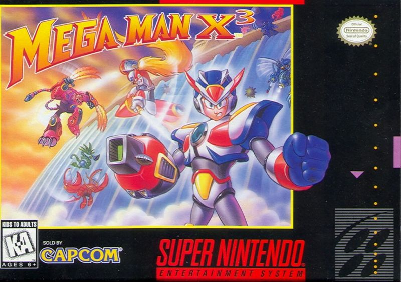 Mega Man X3 Cover SNES