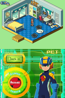 Mega Man Battle Network 5 DS Screenshot