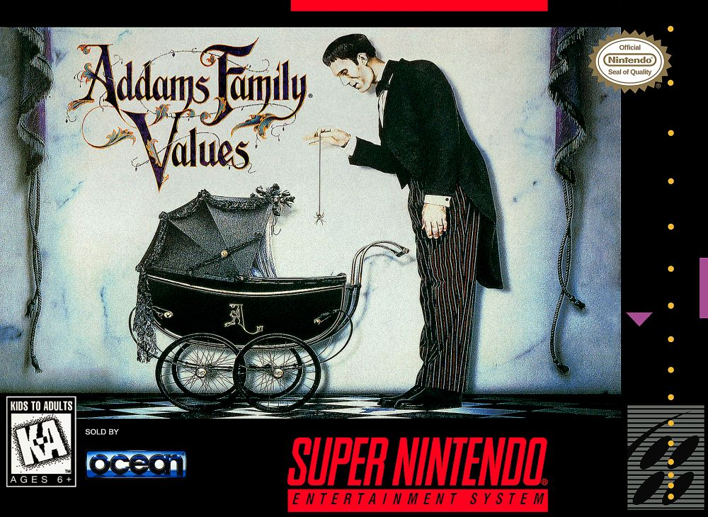 Addams Family Values SNES - Cover
