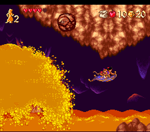 Aladdin auf der Flucht