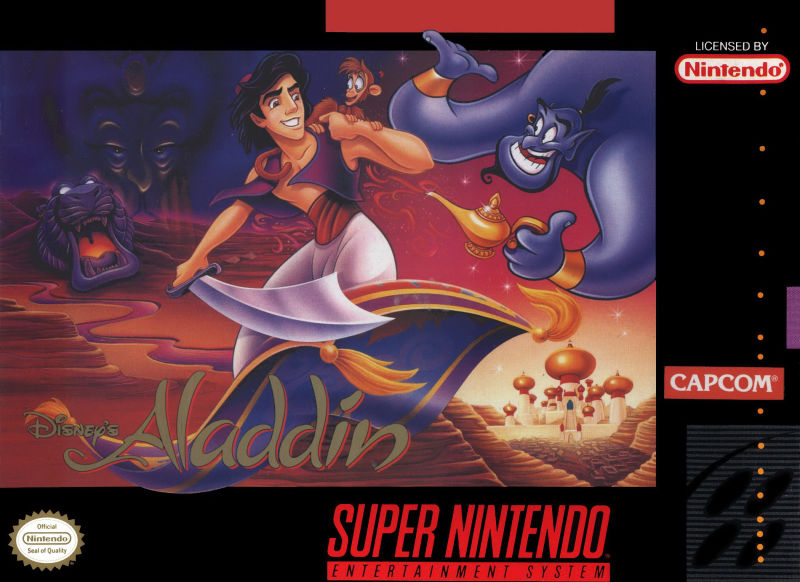 Disneys Aladdin Cover SNES