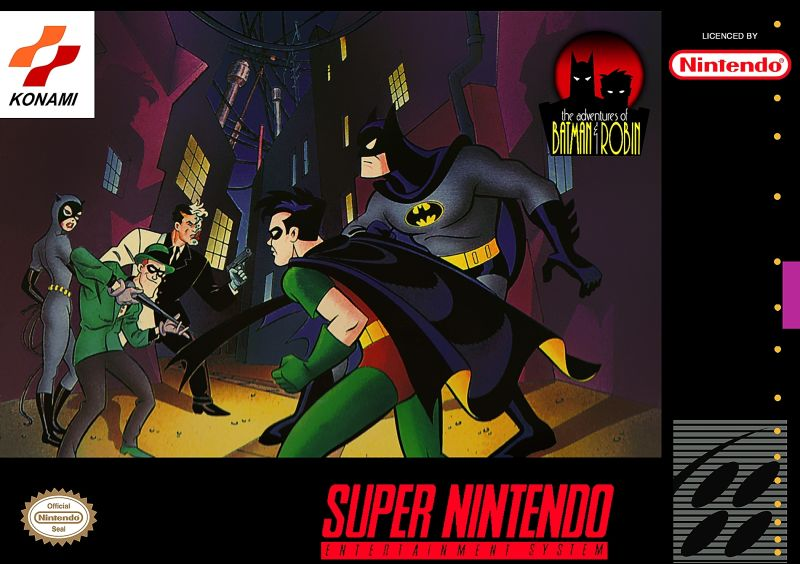 The Adventures of Batman & Robin SNES Cover