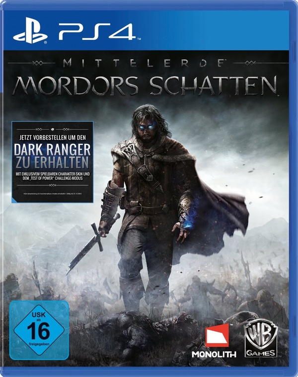 Mordors Schatten PS4 Cover