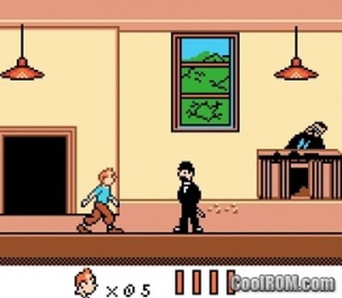 Tim im Sonnentempel GBC Screenshot