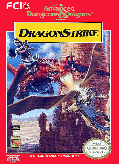 Advanced Dungeons & Dragons DragonStrike NES Cover
