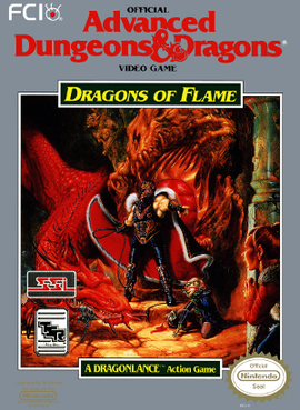Dungeons and Dragons - Dragons of Flame Coverart