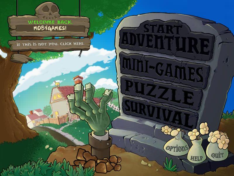 Plants vs. Zombies Title Screen