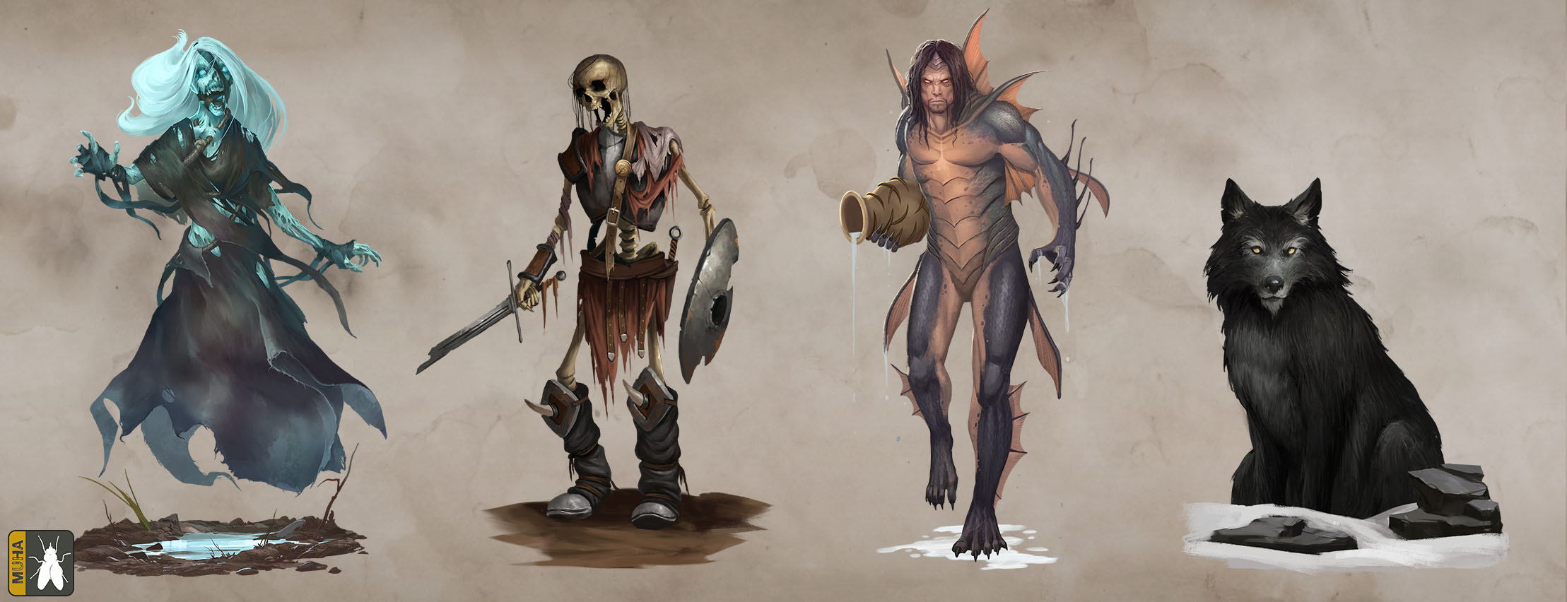 Thea 2 - The Shattering Characters_Monsters2