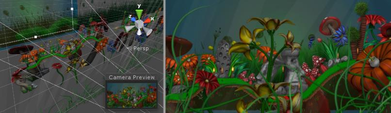 Unity 2D mit perspektivischer Kamera