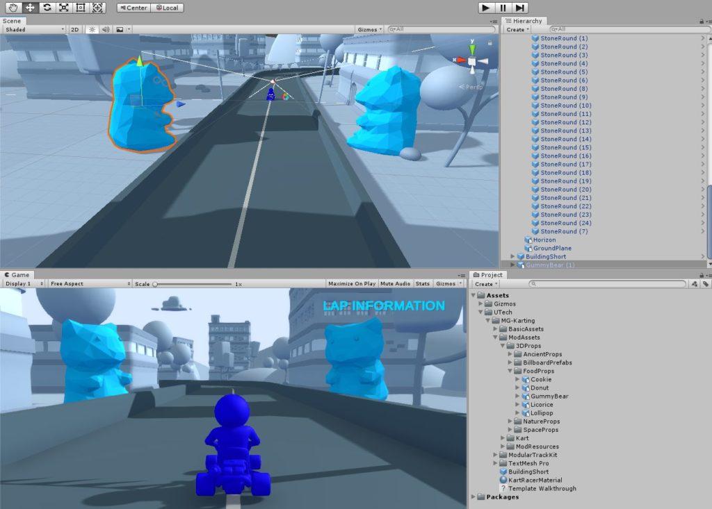 Unity Kart-Mod Gestalte die Umgebung