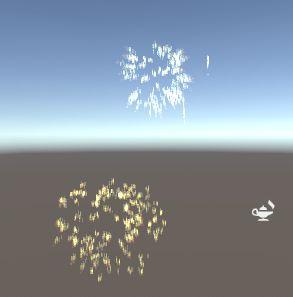 Feuerwerk in Unity