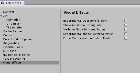 Visual Effects in Preferences
