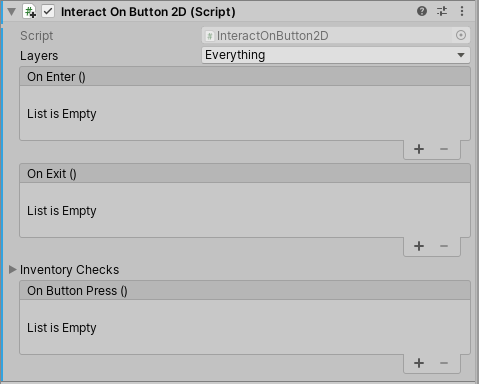 Interact on Button