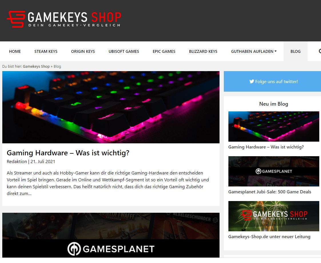 Gamekeys-shop Blog
